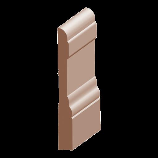 118P-4, 1/2x4-1/4, Poplar Colonial Base