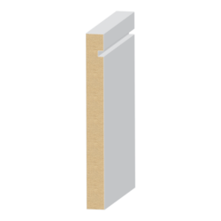 392MUL-5, 9/16x5-1/2, S4S Notched Modern Base
