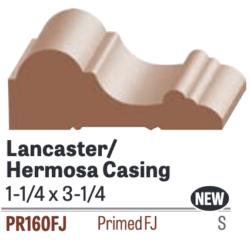 PR160FJ, 1-1/4x3-1/4, Primed Pine Hermosa Casing